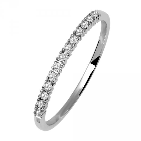 Donna Bianca Bague alliance en or blanc et diamants Diveene joaillerie