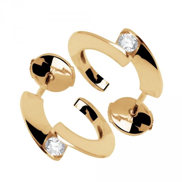 Tara - Boucles d'oreilles or et diamants