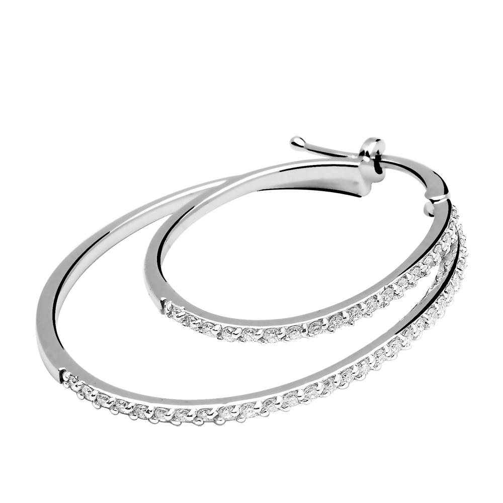 Uma - Boucles d'oreilles créoles or et diamants