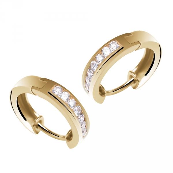 Livia - Boucles d'oreilles créoles en or et diamants