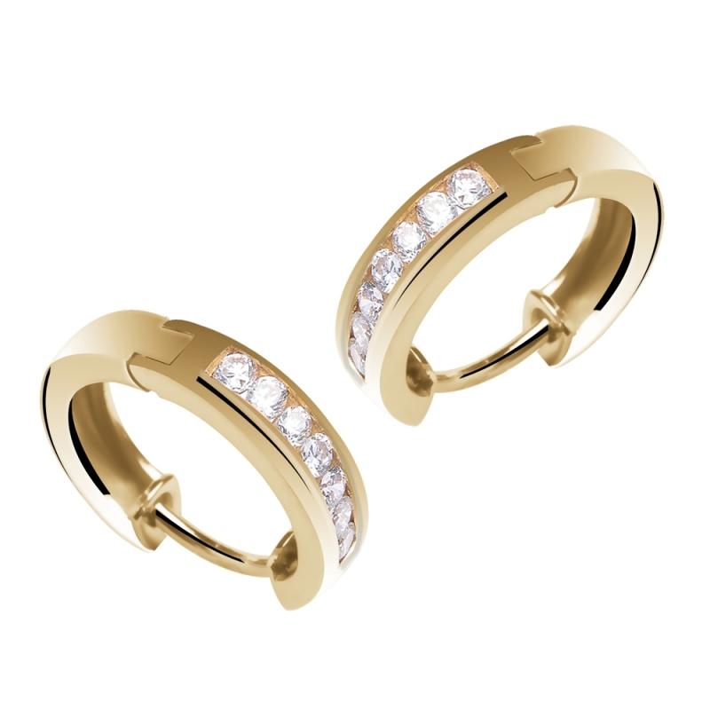 Créoles or jaune, Diamants , Livia