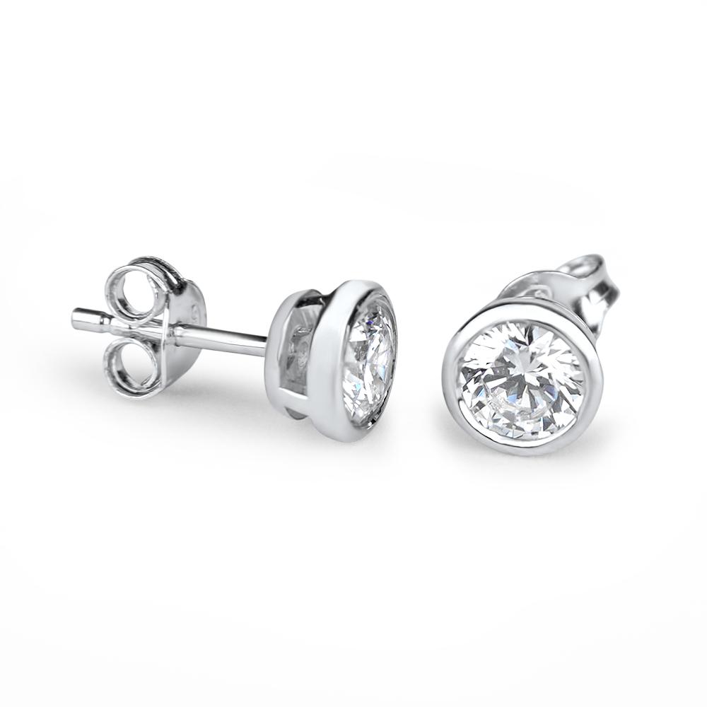 Celia - Boucles d'oreilles en argent et oxydes de zirconium