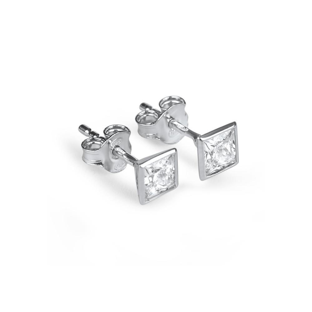 Pia - Boucles d'oreilles en argent et oxydes de zirconium