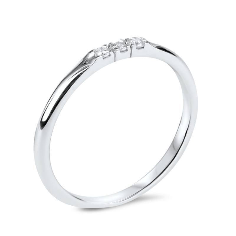 Sterling Silver Diamond Ring , Lovely