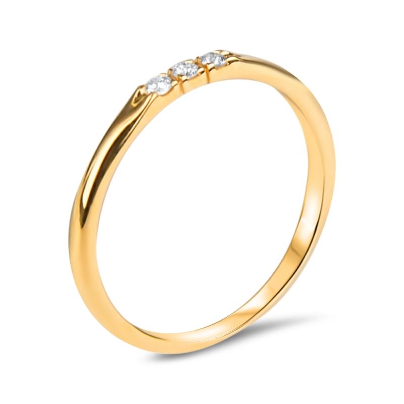 Bague vermeil jaune, Diamants , Lovely