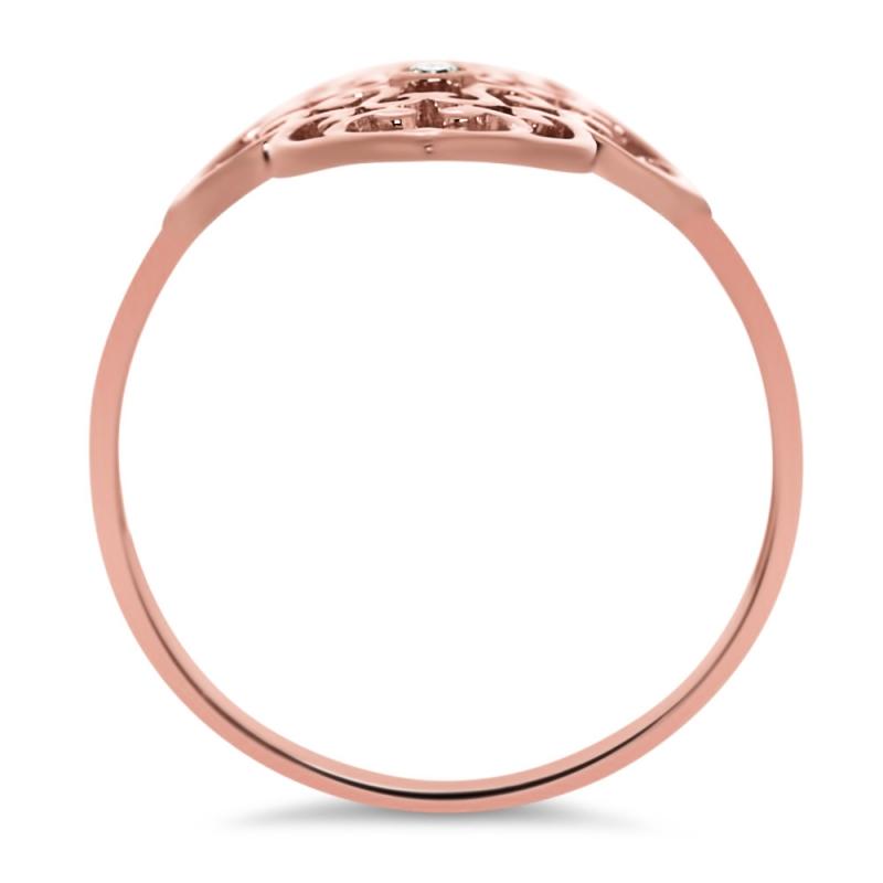 Connu Bague vermeil rose Diamant - Trèfle MK83