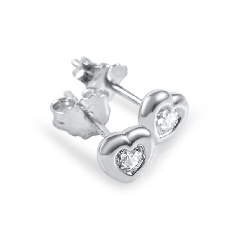 Boucles d'oreilles or, Oxydes de zirconium , Misty
