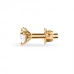 Lili - Boucles d'oreilles en or 18k et oxydes de zirconium