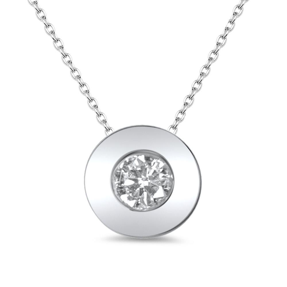 Sentinel - collier solitaire en or et diamant