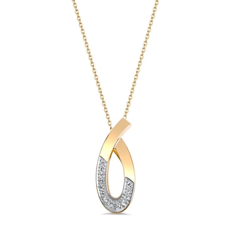 Collier en or, Diamants , Ophélie