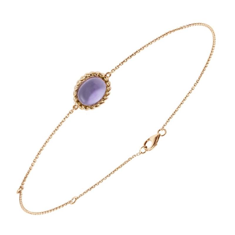 Bracelet en or, Améthyste , Berlingot Mini