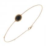 Berlingot Mini Bracelet en or rose et onyx Diveene joaillerie