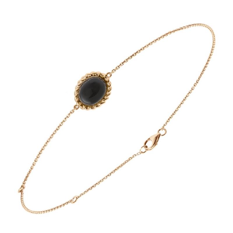 Bracelet en or, Onyx , Berlingot Mini