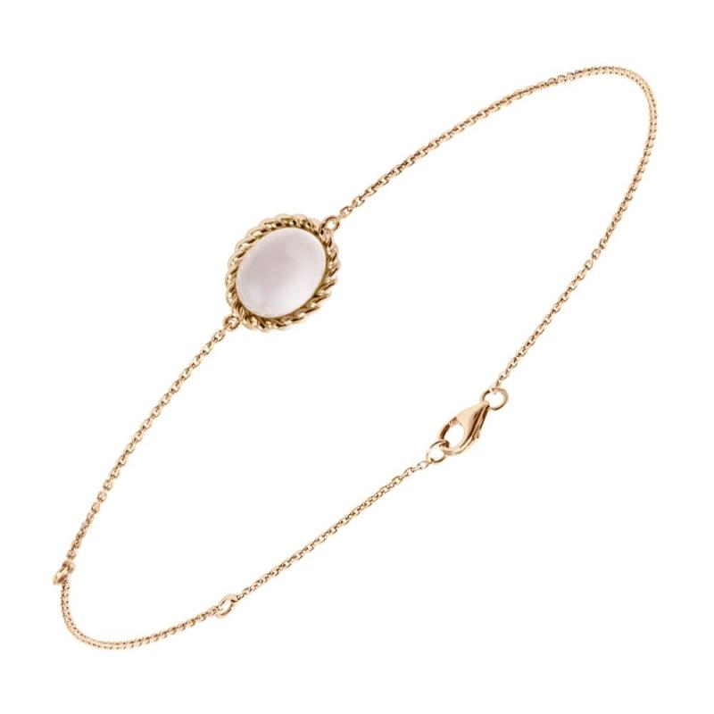 Bracelet en or, Quartz rose , Berlingot Mini