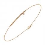 Diamini Solitaire Bracelet or rose et diamant Diveene joaillerie