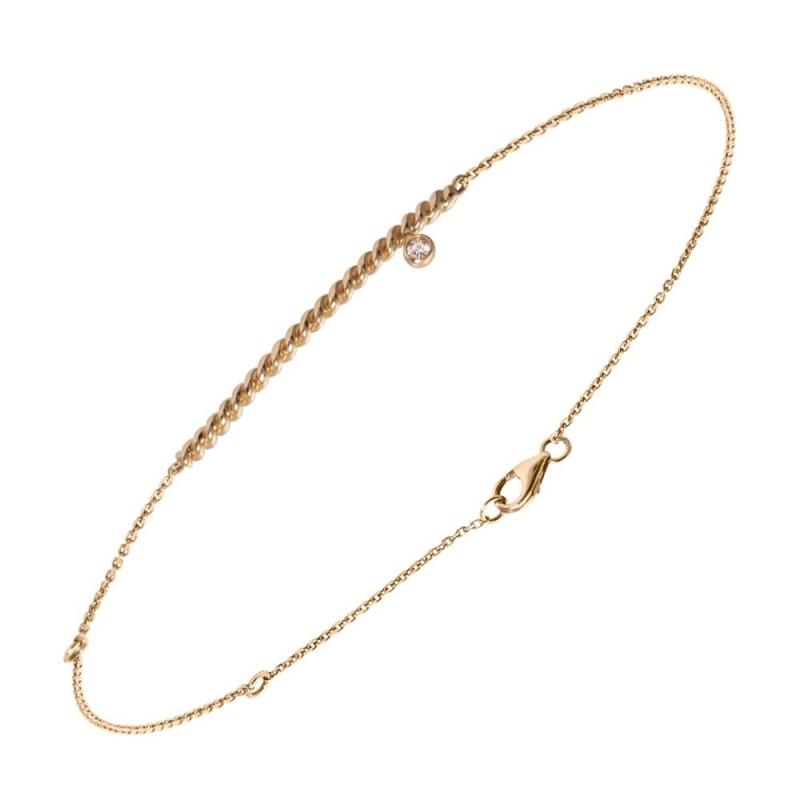 Bracelet or rose, Diamant , Diamini Solitaire