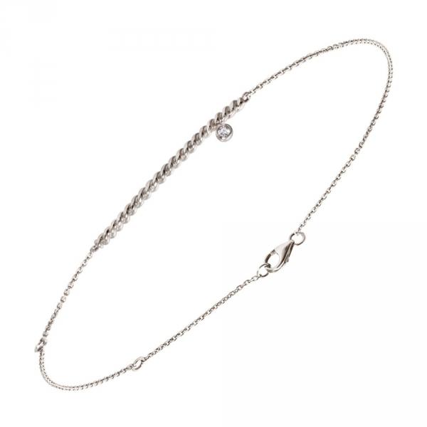 Diamini Solitaire Bracelet or blanc et diamant Diveene joaillerie