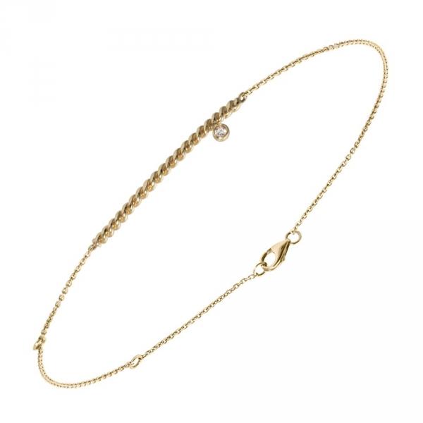 Diamini Solitaire Bracelet or jaune et diamant Diveene joaillerie