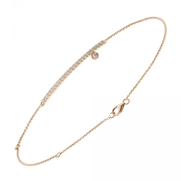 Diamini Bracelet or rose et diamants Diveene joaillerie