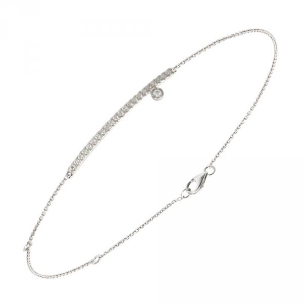 Diamini Bracelet or blanc et diamants Diveene joaillerie