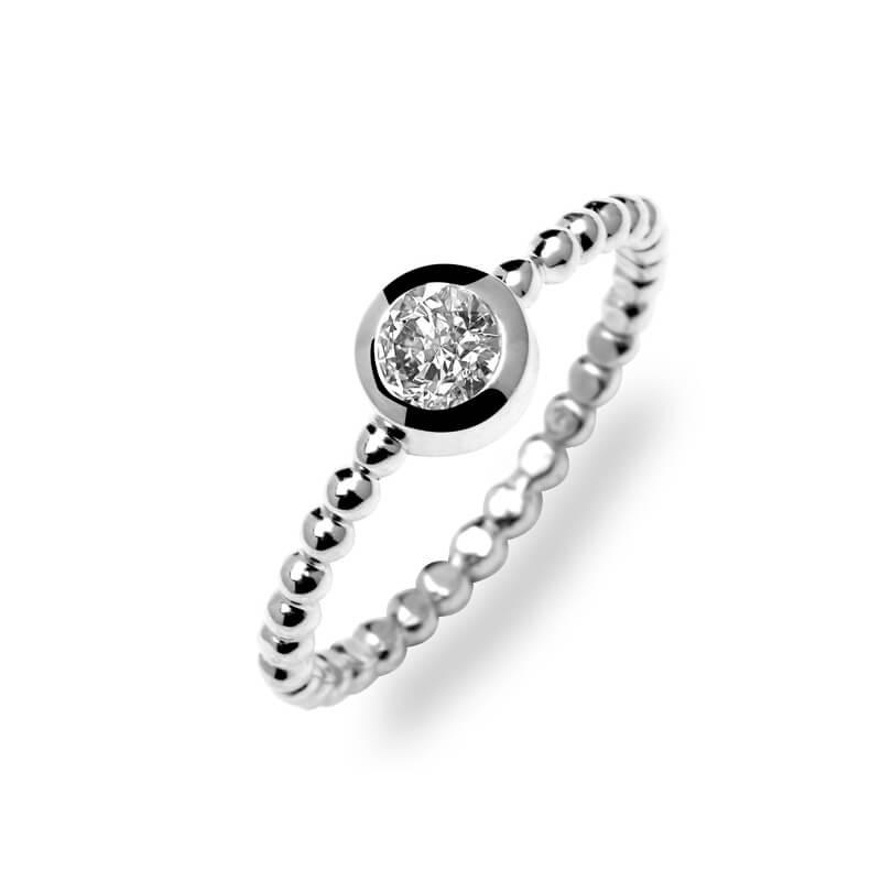 Sterling Silver Swarovski Crystal Ring, Diveene Torsade