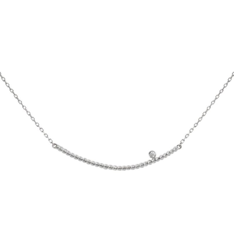 Collier or blanc, Diamant , Diamini Solitaire