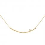 Diamini Solitaire Collier or jaune et diamant Diveene joaillerie