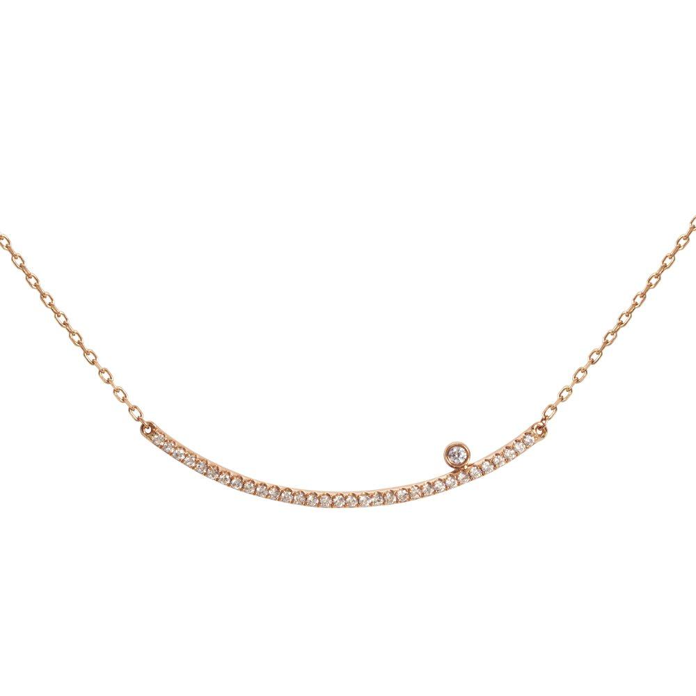 Diamini Collier or rose et diamants Diveene joaillerie
