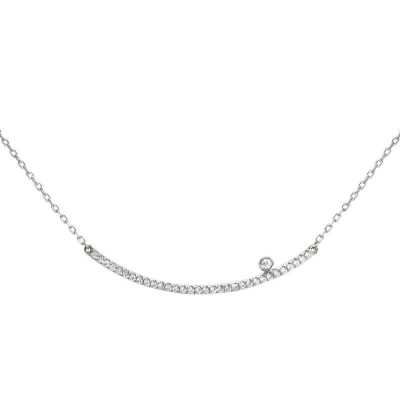 Collier or blanc pavé Diamants , Diamini