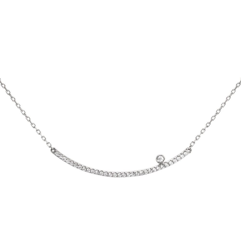 Diamini Collier or blanc et diamants Diveene joaillerie