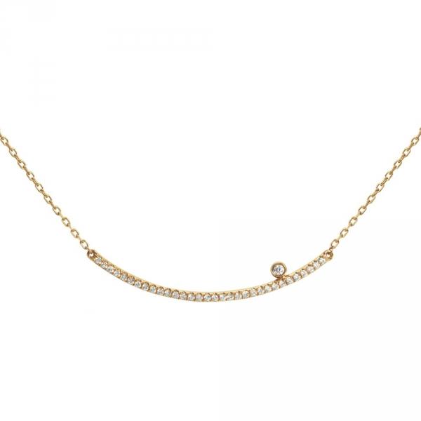 Diamini Collier or jaune et diamants Diveene joaillerie