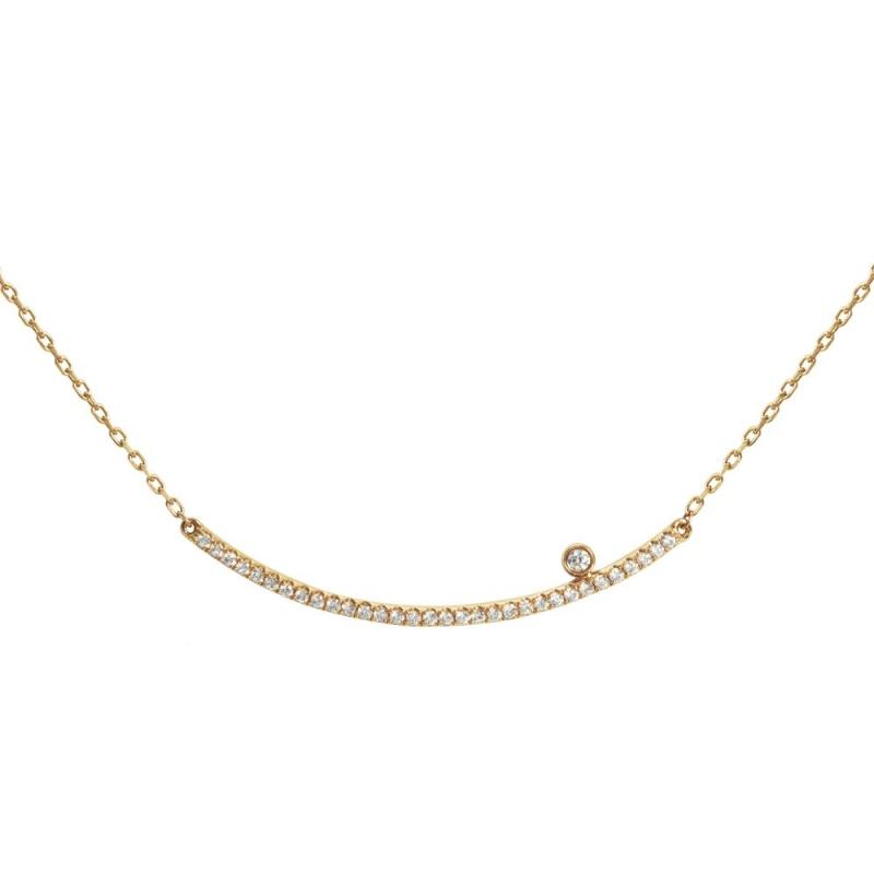 Collier or jaune pavé Diamants , Diamini