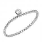 Diamini 1 bague solitaire or blanc et diamant Diveene Joaillerie