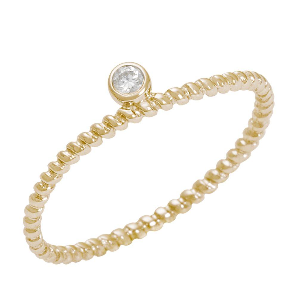 Diamini 1 Bague solitaire or jaune et diamant Diveene joaillerie