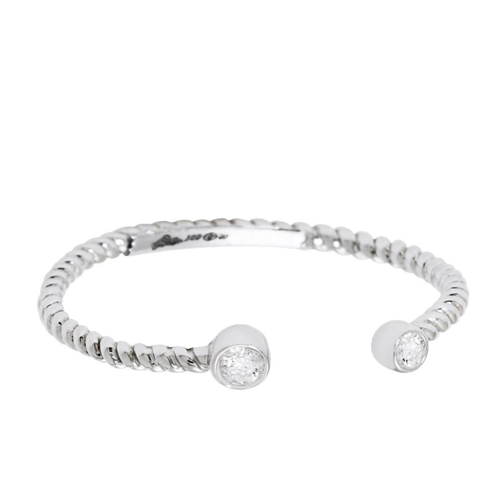 Diamini Toi et Moi Bague or blanc et diamants Diveene Joaillerie