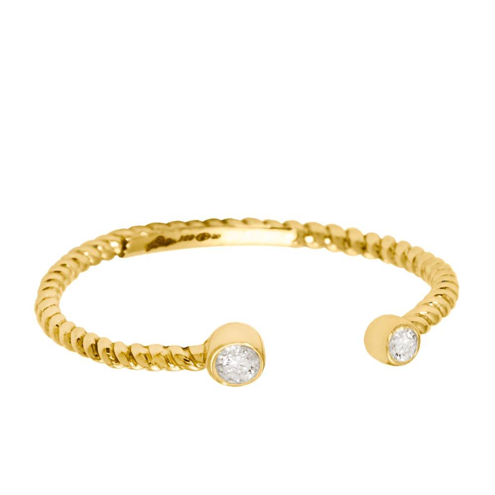 Diamini Toi et Moi Bague or jaune et diamants Diveene Joaillerie