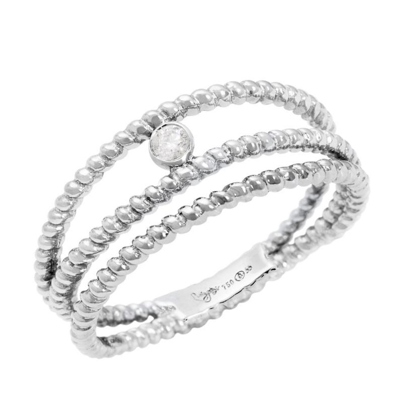 Bague solitaire or blanc, Diamant , Diamini 3