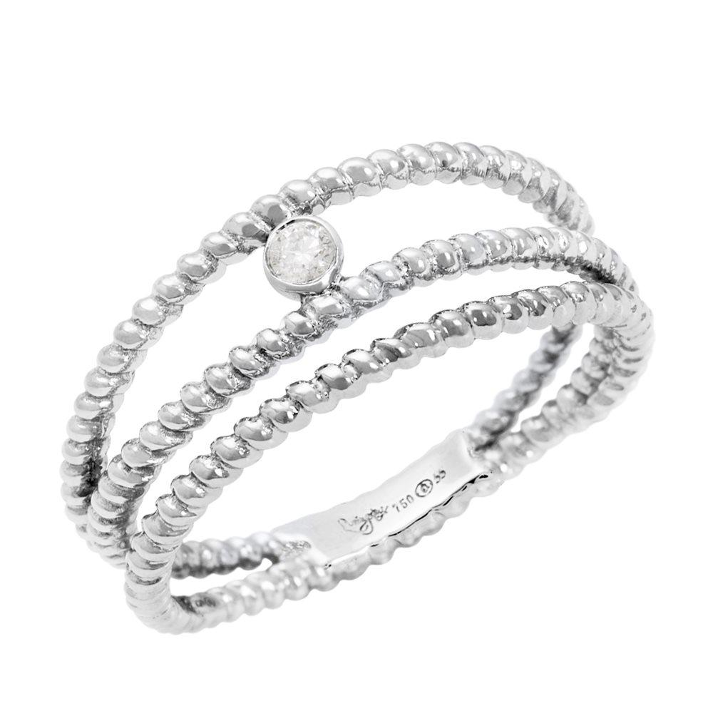 Diamini 3 Bague solitaire or blanc et diamants Diveene Joaillerie