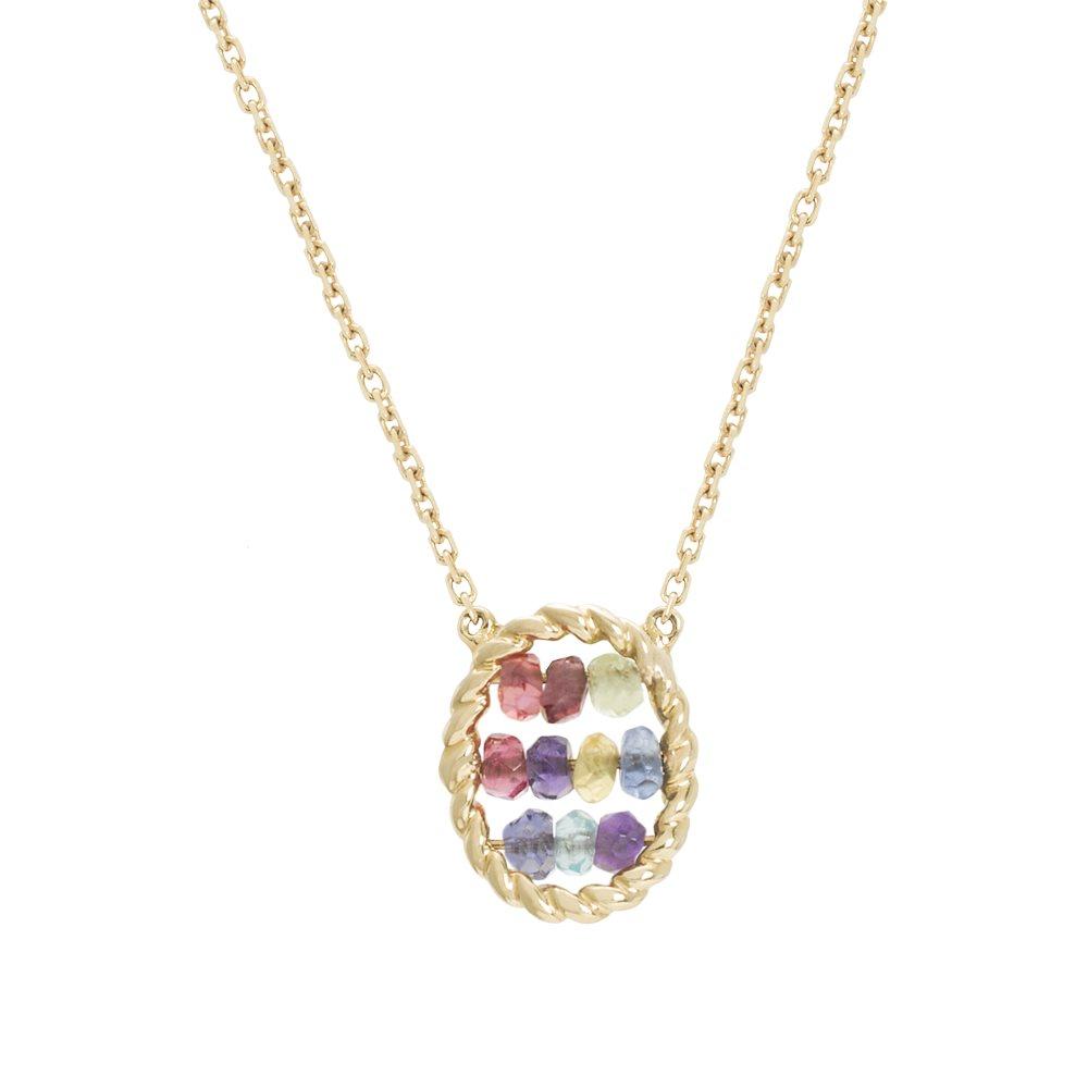 Briolette - Collier en or et pierres fines