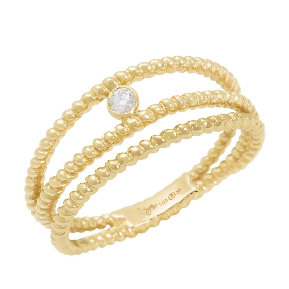 Diamini 3 Bague solitaire or jaune et diamants Diveene Joaillerie