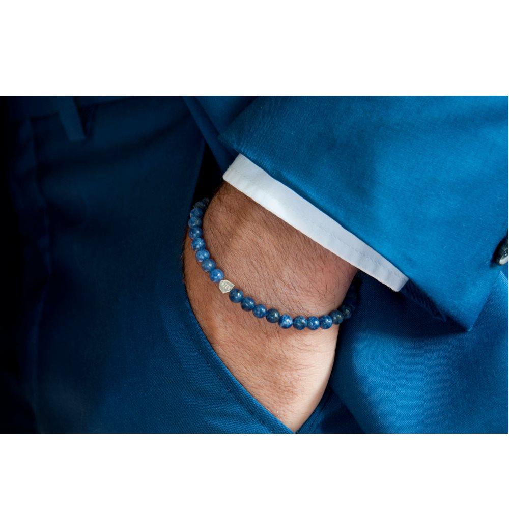 bracelet sten dumortierite et argent diveene joaillerie