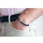 bracelet sten pierre de lave et argent diveene joaillerie bracelet noir