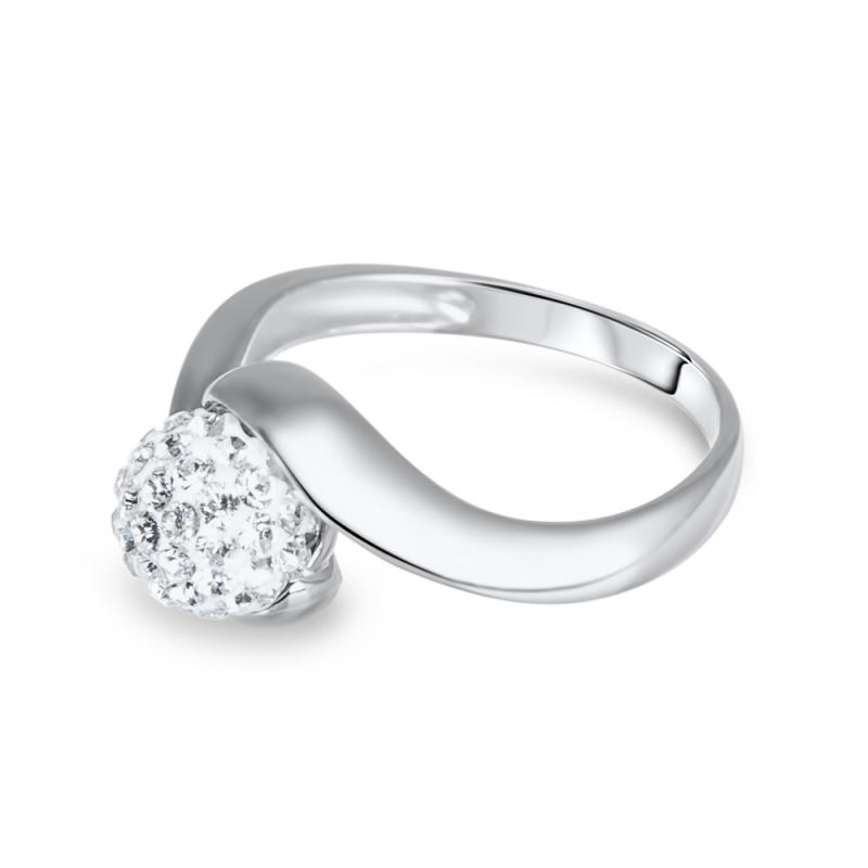 Bague en argent, cristal Swarovski , Petit Tourbillon Crystal White