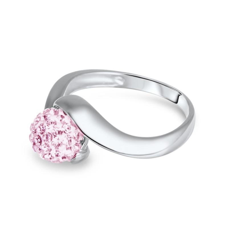 Bague en argent, cristal Swarovski, Petit Tourbillon Rose