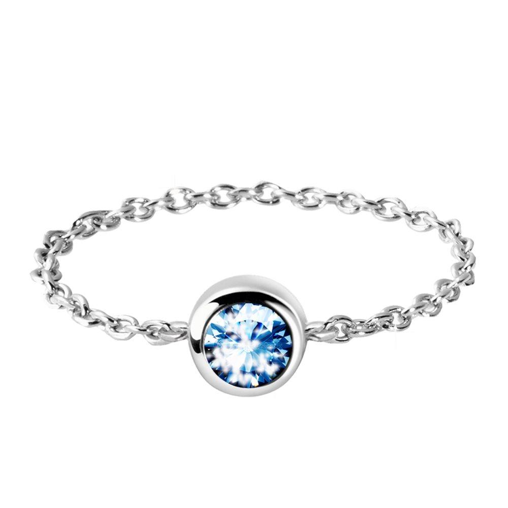 bague chaine en argent et cristal swarovski diveene bijouterie