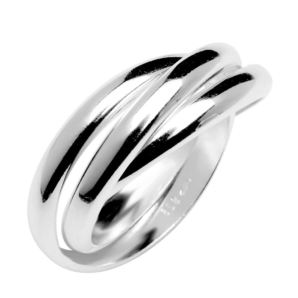 Trinity bague trois anneaux en argent