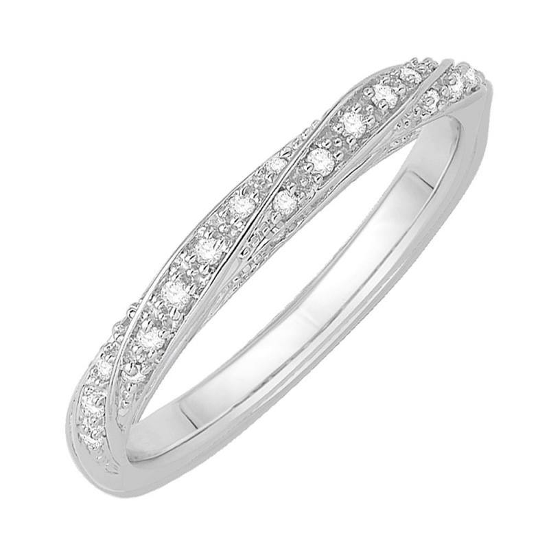 18k White Gold Diamond Eternity ring , Bettina
