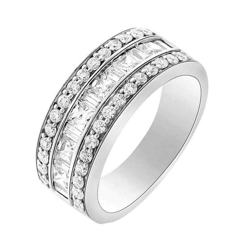 18k White Gold Diamond Eternity ring , Daisie