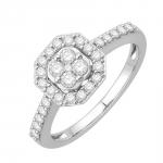 Angèle Bague Or blanc et diamants Diveene joaillerie