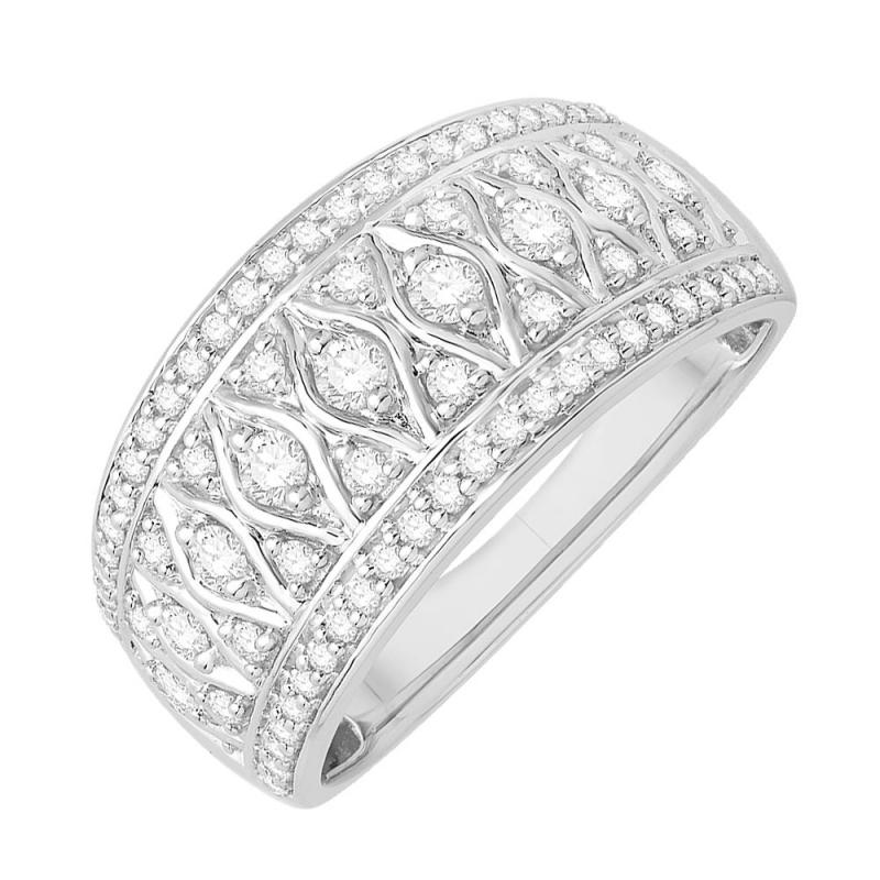 18k White Gold Diamond Ring , Joueuse